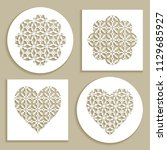 templates for laser cutting ...   Shutterstock .eps vector #1129685927