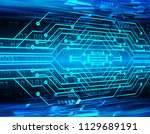binary circuit board future... | Shutterstock .eps vector #1129689191