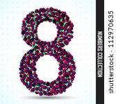 vector number eight made from... | Shutterstock .eps vector #112970635
