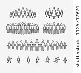 crowd of people icon. symbol... | Shutterstock .eps vector #1129712924