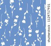 flower illustration pattern ...   Shutterstock .eps vector #1129717931
