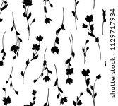 flower illustration pattern ...   Shutterstock .eps vector #1129717934