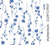 flower illustration pattern ... | Shutterstock .eps vector #1129717937