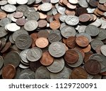 Bunch Of Dollar Pennies Coins...