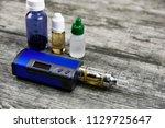 e   cigarette for vaping  ... | Shutterstock . vector #1129725647