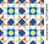 patchwork star seamless pattern....   Shutterstock .eps vector #1129728905