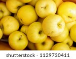 Yellow Apples Close Up Fresh...