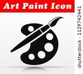 illustration of art paint...   Shutterstock .eps vector #1129742441