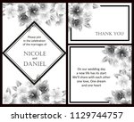 romantic invitation. wedding ... | Shutterstock .eps vector #1129744757