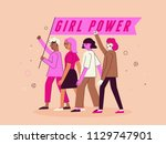 vector illustration in trendy... | Shutterstock .eps vector #1129747901