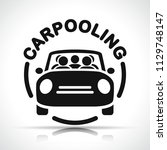 illustration of carpooling icon ... | Shutterstock .eps vector #1129748147