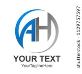 circle abstract letter ah... | Shutterstock .eps vector #1129757597