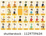 profession flashcards vector... | Shutterstock .eps vector #1129759634
