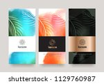 vector set packaging templates... | Shutterstock .eps vector #1129760987