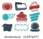 retro vintage labels and badges ... | Shutterstock .eps vector #112976377