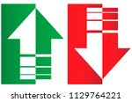 up and down arrows. upward ...   Shutterstock .eps vector #1129764221