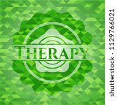 therapy green emblem. mosaic... | Shutterstock .eps vector #1129766021