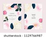 wedding invitation  floral... | Shutterstock .eps vector #1129766987