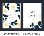 wedding invitation  floral... | Shutterstock .eps vector #1129767011