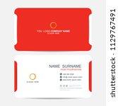 business card vector background | Shutterstock .eps vector #1129767491