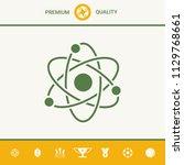 atom symbol   science icon | Shutterstock .eps vector #1129768661