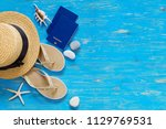 travel concept. copy space.... | Shutterstock . vector #1129769531