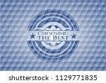 choosing the best blue badge...   Shutterstock .eps vector #1129771835