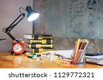 colorful equipment class with... | Shutterstock . vector #1129772321