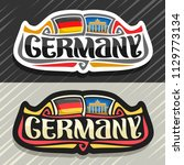 vector logo for germany country ... | Shutterstock .eps vector #1129773134