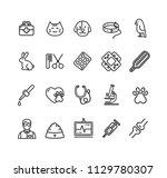 veterinary clinic signs black... | Shutterstock .eps vector #1129780307