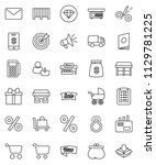 thin line vector icon set  ... | Shutterstock .eps vector #1129781225
