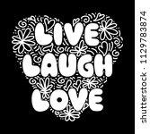 live  laugh  love. hand...   Shutterstock .eps vector #1129783874