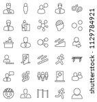 thin line vector icon set  ... | Shutterstock .eps vector #1129784921