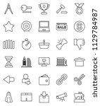 thin line vector icon set  ... | Shutterstock .eps vector #1129784987