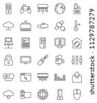 thin line vector icon set  ... | Shutterstock .eps vector #1129787279