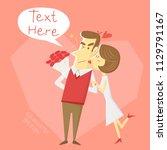 love couple cartoon character... | Shutterstock .eps vector #1129791167