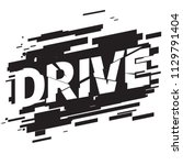 drive athletic sport typography ... | Shutterstock .eps vector #1129791404