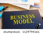 business model and financial... | Shutterstock . vector #1129794161