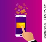mobile e mail notification... | Shutterstock .eps vector #1129797524
