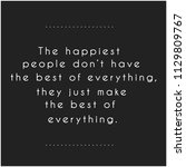 quote. inspirational and... | Shutterstock . vector #1129809767