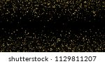 glitter of golden particles of... | Shutterstock .eps vector #1129811207