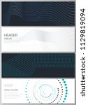 Stock vector the minimalistic vector illustration of the editable layout of headers banner design templates 1129819094
