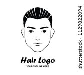 man hair logo with text space... | Shutterstock .eps vector #1129822094