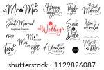 wedding vector quote script... | Shutterstock .eps vector #1129826087
