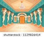 vector dancing hall with atlas... | Shutterstock .eps vector #1129826414