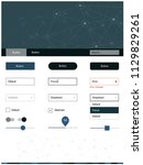 light blue vector ui ux kit in...