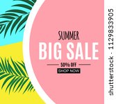 abstract summer sale background.... | Shutterstock .eps vector #1129833905