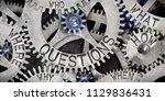 photo of tooth wheel mechanism...   Shutterstock . vector #1129836431