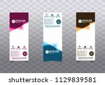 roll up banner stand template... | Shutterstock .eps vector #1129839581