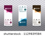 roll up banner stand template... | Shutterstock .eps vector #1129839584